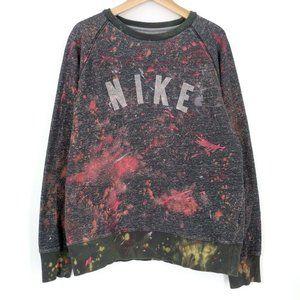 Nike Custom Painted Tie Dye Crew Sweatshirt XL
